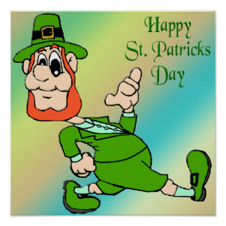 Poster del Leprechaun del día de St Patrick