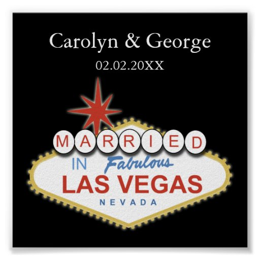 poster del letrero de Las Vegas