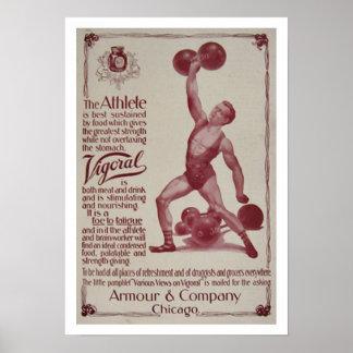 Poster del levantamiento de pesas