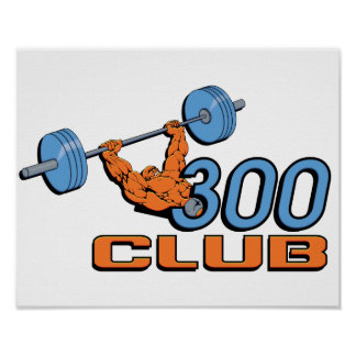Poster del levantamiento de pesas de 300 clubs