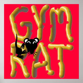 Poster del levantamiento de pesas de la rata del g
