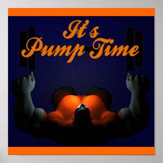 Poster del levantamiento de pesas del tiempo de la