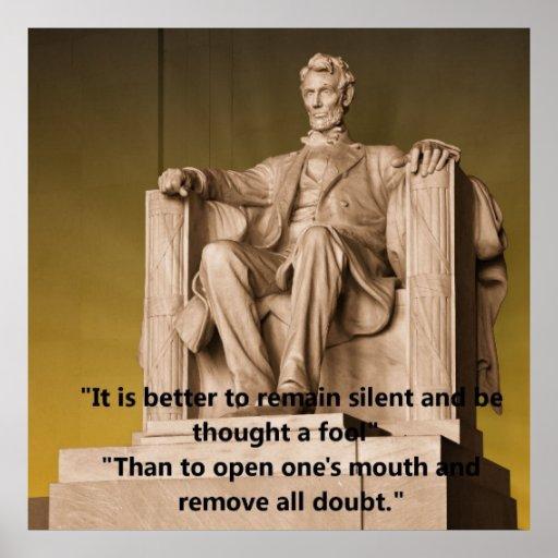Poster del Lincoln memorial