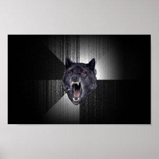 Poster del lobo de la locura