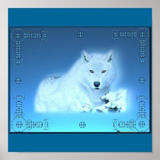 Poster del lobo de la nieve