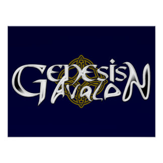 Poster del logotipo de Avalon de la génesis