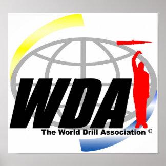 Poster del logotipo de la asociación del taladro d póster