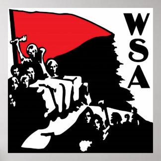 Poster del logotipo de WSA
