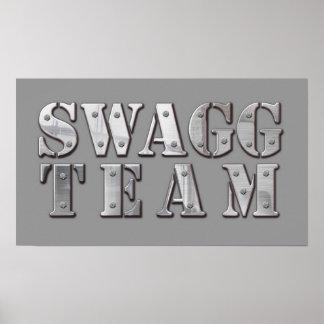 Poster del logotipo del equipo de Yung Joc Swagg Póster