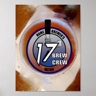 Poster del logotipo del equipo del Brew 17 (en una Póster