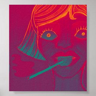 Poster del lollipop que fuma