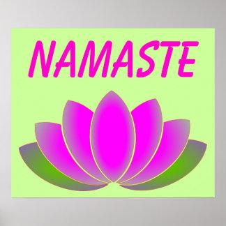 Poster del loto de Namaste