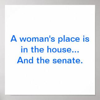 """""""Poster del lugar de una mujer"""" Póster"""