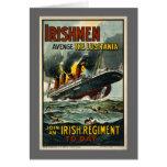 Poster del Lusitania del vintage (reclutamiento de Felicitacion