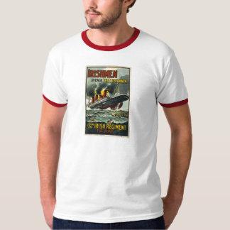 Poster del Lusitania del vintage (reclutamiento Playera