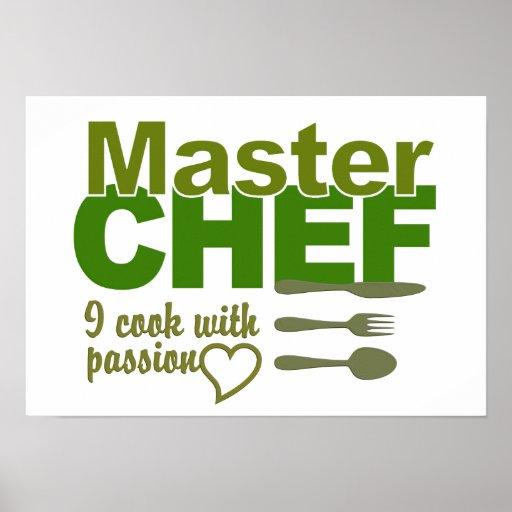 Poster del maestro cocinero