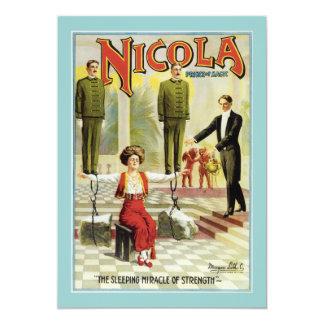 """Poster del mago de Nicola del vintage Invitación 5"""" X 7"""""""