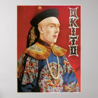 Poster del mago de Okito del vintage