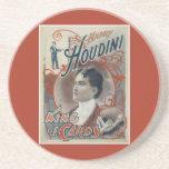 Poster del mago del vintage de Harry Houdini Posavaso Para Bebida