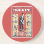 Poster del mago del vintage de Harry Houdini Posavasos Manualidades