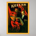Poster del mago del vintage del ~ de Kellar