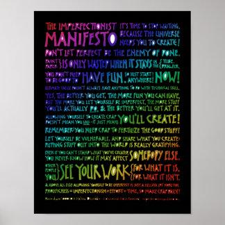 Poster del manifiesto de Imperfectionist - arco ir