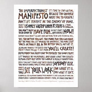 Poster del manifiesto de Imperfectionist - tinta d