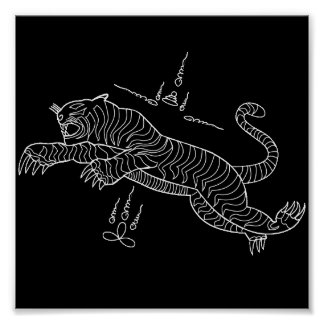 Poster del mantra del tigre