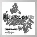 Poster del mapa de Auckland