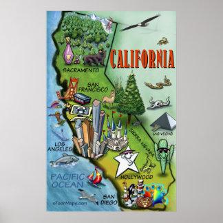 Poster del mapa de California