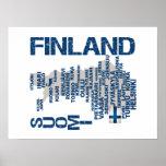 Poster del MAPA de FINLANDIA