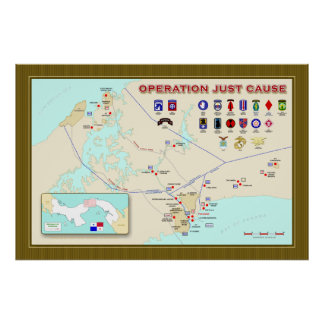 Poster del mapa de la causa de la operación apenas