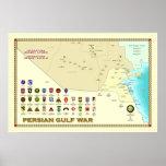 Poster del mapa de la guerra del golfo Pérsico