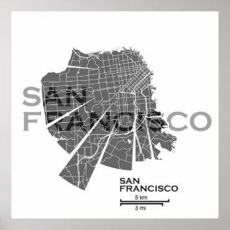 Poster del mapa de San Francisco