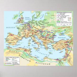 Poster del mapa del imperio romano