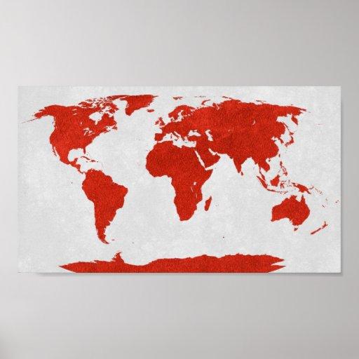 Poster del mapa del mundo