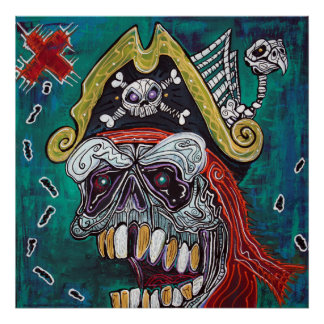 Poster del mapa del tesoro del pirata