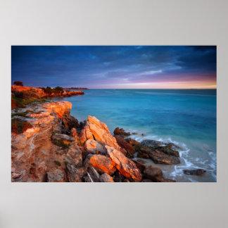 Poster del mar de la naturaleza