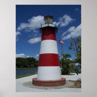 Poster del marcador del lago lighthouse de Dora la