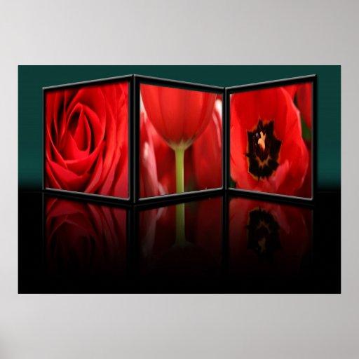 poster del marco de la flor 3D