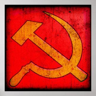 Poster del martillo y de la hoz de URSS del