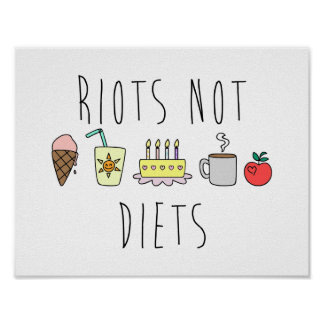 Poster del mate de las dietas 24x24 de los alborot