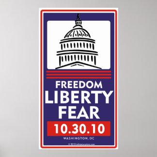 Poster del miedo de la libertad de la libertad