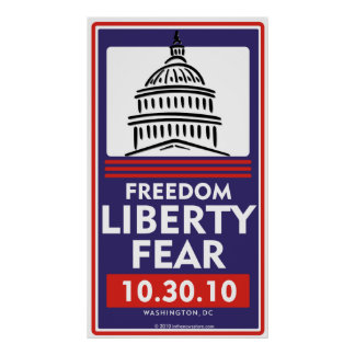 Poster del miedo de la libertad de la libertad póster