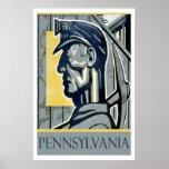 Poster del minero de WPA Pennsylvania del vintage