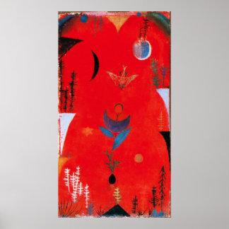 Poster del mito de la flor de Paul Klee
