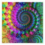 Poster del modelo del fractal del arco iris del hi impresiones fotográficas