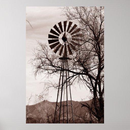 Poster del molino de viento de Arizona