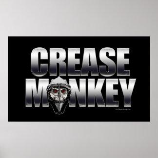 Poster del mono del pliegue cromo