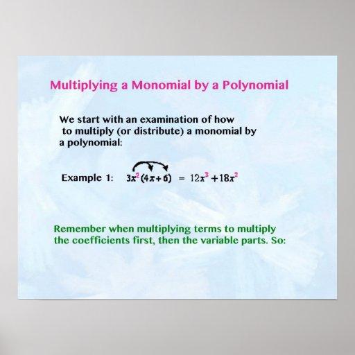Poster del monomio
